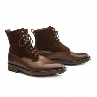 Edward Green Galway Shearling Lined Leather & Suede Boots