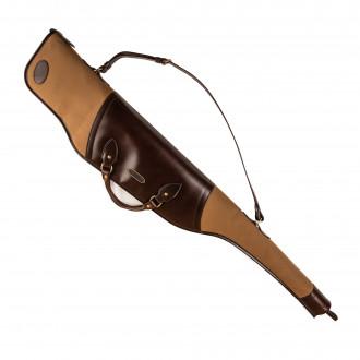 Westley Richards Scoped Taylor Rifle Slip in Sand & Dark Tan