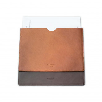 W. R. & Co. Leather Document Holder - Dark Tan
