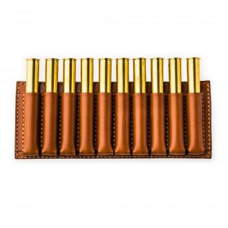 Westley Richards 10 Rd Open Ammunition Belt Wallet Large - Mid Tan