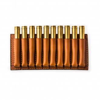 W. R. & Co. 10 Rd Open Ammunition Belt Wallet Medium - Mid Tan