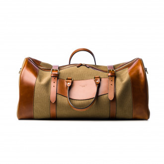 Westley Richards Large Sutherland Bag in Sand and Mid Tan