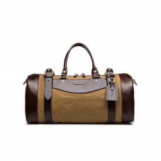 Westley Richards Small Sutherland Bag in Sand and Dark Tan