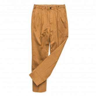 The Chino Revived  Warm Weather Cotton Trousers - Brown