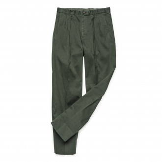 The Chino Revived  Warm Weather Cotton Trousers -Dark Green