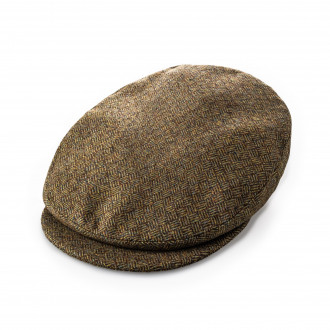 Westley Richards Bond Tweed cap in Wilton Brown
