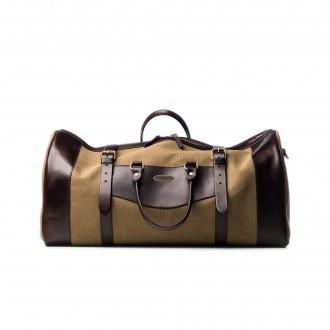 Westley Richards Large Sutherland Bag in Sand and Dark Tan