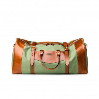 Westley Richards Large Sutherland Bag in Safari Green and Mid Tan