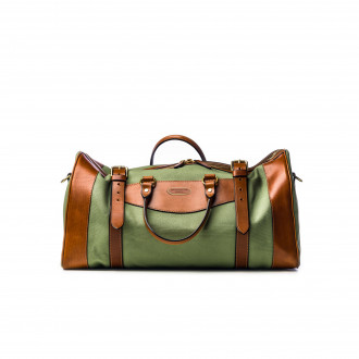 Westley Richards Medium Sutherland Bag in Safari Green and Mid Tan