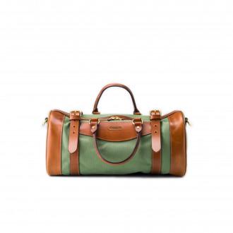 Westley Richards Small Sutherland Bag in Safari Green & Mid Tan
