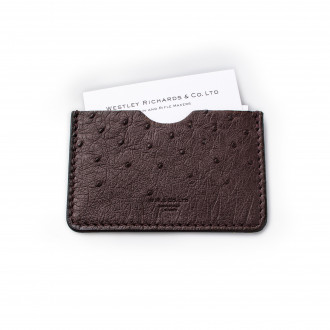 W. R. & Co. Business Card Holder - Ostrich