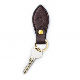 Westley Richards Leather Key Fob in Ostrich