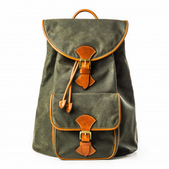 Westley Richards Explora Rucksack in Forest Green Waxed Cotton