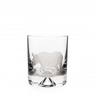 Westley Richards Hand Engraved Crystal Glass - Rhino