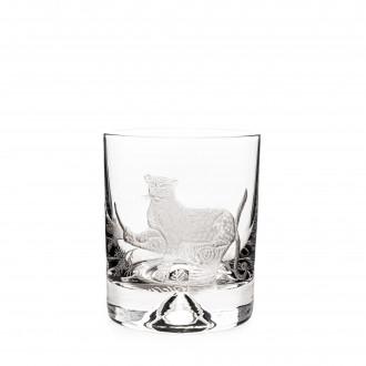 Westley Richards Hand Engraved Crystal Glass - Leopard