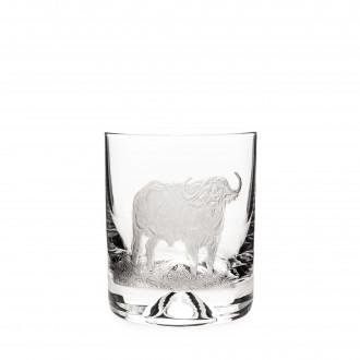 Westley Richards Hand Engraved Crystal Glass - Buffalo