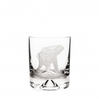 Westley Richards Hand Engraved Crystal Glass - Elephant