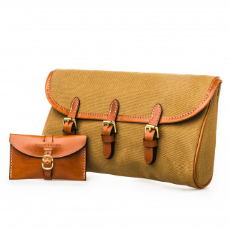 Westley Richards Redfern Cleaning Pouch in Sand & Mid Tan