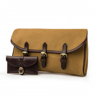 Westley Richards Redfern Cleaning Pouch in Sand  & Dark Tan