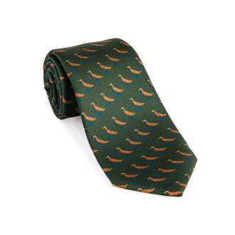 Westley Richards Silk Grouse tie in Highland Green