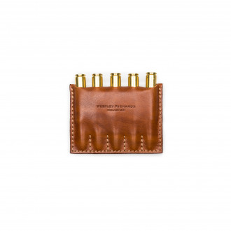 Westley Richards Open Ammunition Wallet in Mid Tan