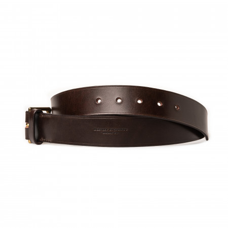 "1.5"" Leather Belt in Dark Tan"
