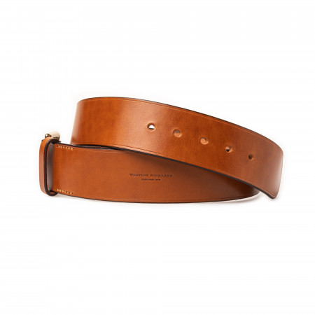 """2"""" Leather Belt In Mid Tan"""