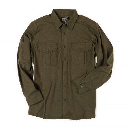 Filson Lightweight Alaskan Guide Shirt in Dark Olive