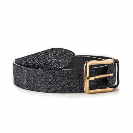 Post & Co. Men's Stingray Belt in Black