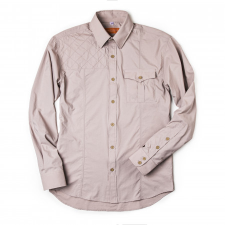 Westley Richards Game Scout Technical Safari Shirt in Baked Clay