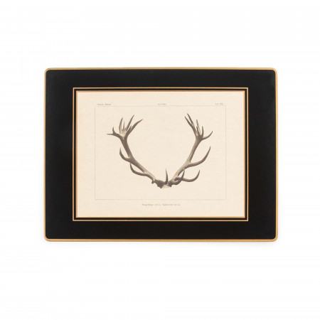 W. R. & Co. Antler Print Traditional Place Mat - Stag