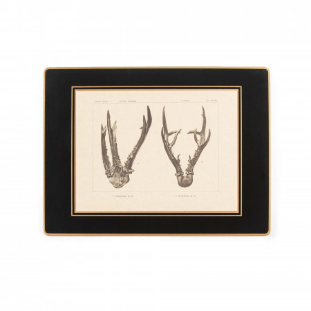 Antler Print Traditional Place Mat - Roe Buck