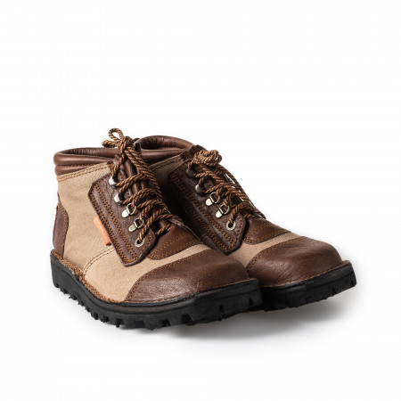Courteney Boot Company Safari Boot Canvas & Buffalo Hide