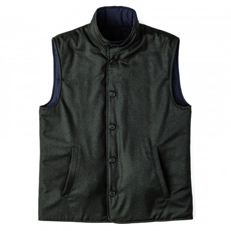 Doriani Men's Reversible Wool Gilet