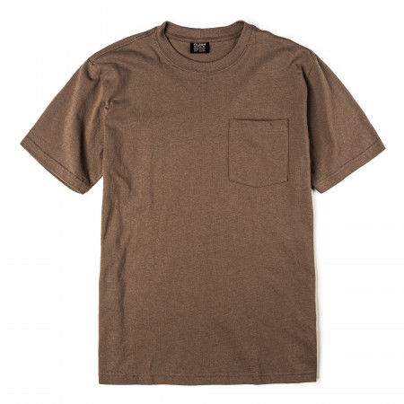 Short Sleeve Outfitter One-Pocket T-Shirt in Dark Mushroom
