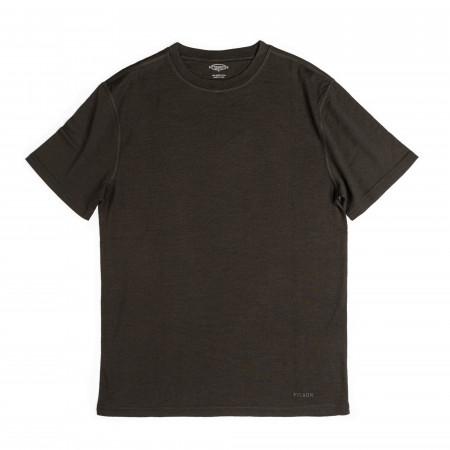 Short Sleeve Merino Crew T-Shirt - Olive