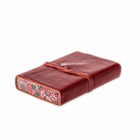 Leather Notebook in Crimson