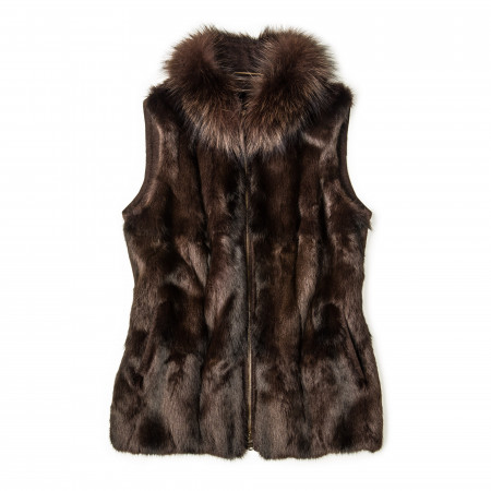 Ladies Erna Fur Gilet