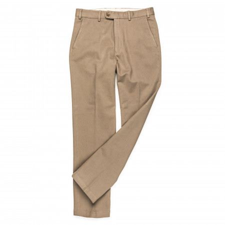 Twill Trouser in Tan Grey