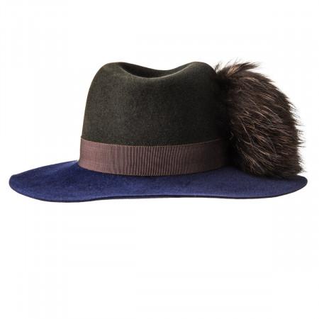 Inverni Ladies Florence Hat - Brown/Navy