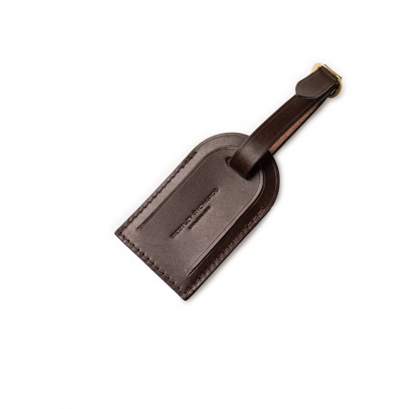 Luggage Tag in Dark Tan