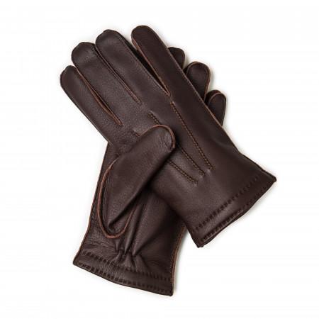 Westley Richards Men's Cashmere Lined Deer Skin Leather Gloves
