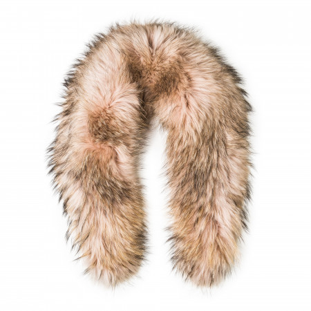 Natures Collection Deluxe Raccoon Fur Scarf - Evening Sand