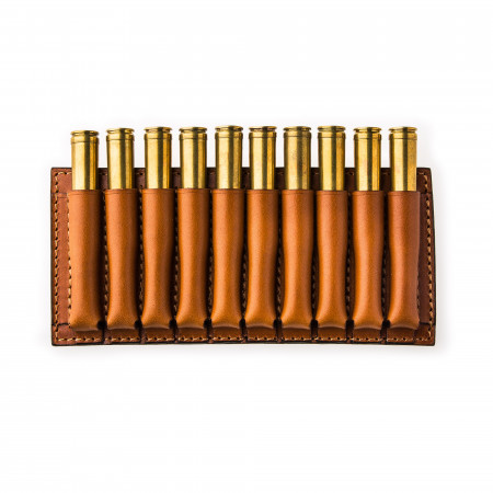 10 Rd Open Ammunition Belt Wallet Medium - Mid Tan