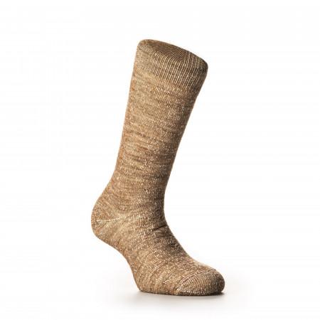 Rototo Double Face Merino Wool Socks in Camel