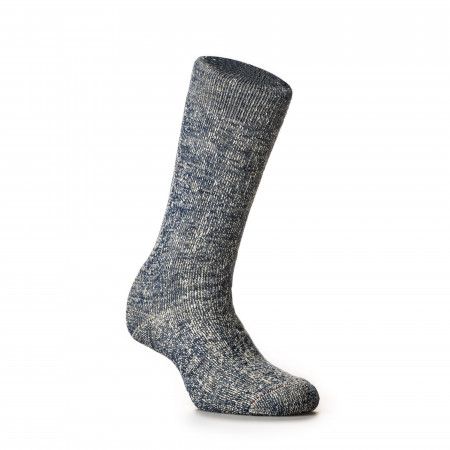 Double Face Merino Wool Socks in Deep Ocean