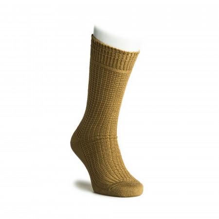 Cotton Waffle Socks in Khaki