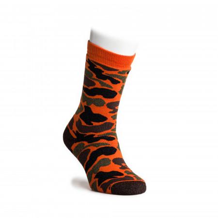 Camo Crew Socks in Orange