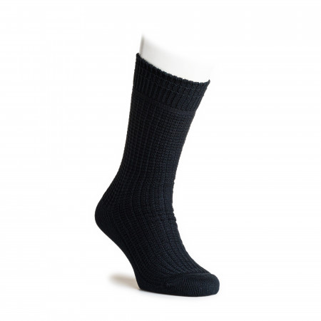 Cotton Waffle Socks in Charcoal