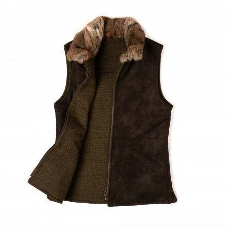 Ladies Suede Reversible Gilet
